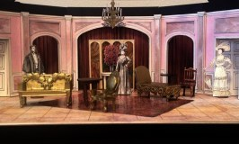 "Act I set model for ""The Importance of Being Earnest."""