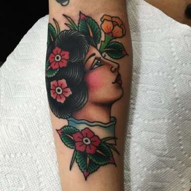 a few ladies..., jason walstrom tattoos, lady tattoo, minneapolis tattoo shops, minnesota tattoo shops, traditional tattoo, traditional tattoos