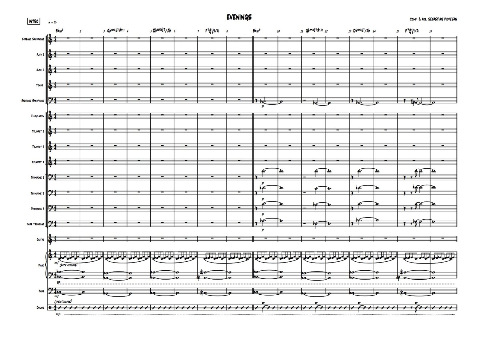 EVENINGS SCORE BIG BAND 01 - Sebastian Piovesan