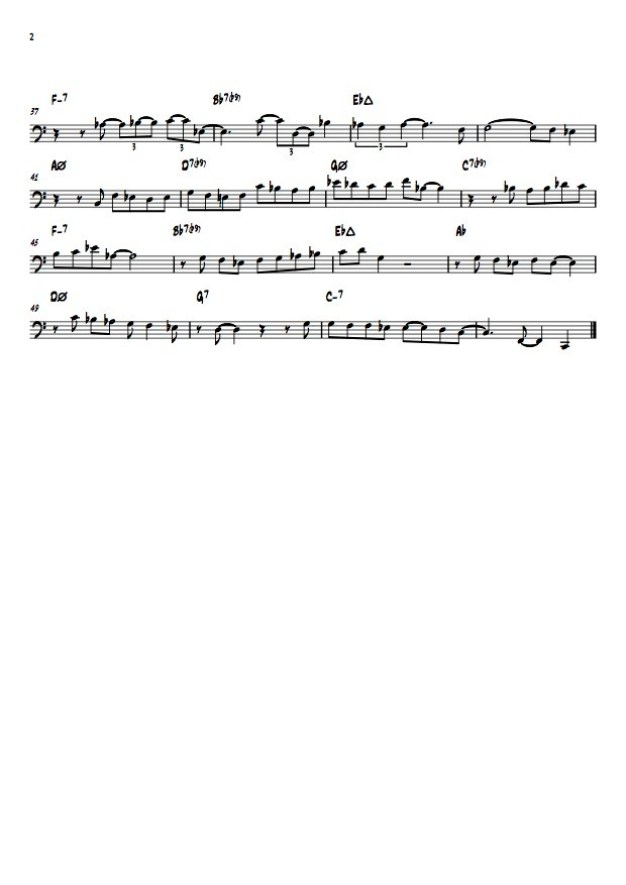 YOU MUST BELIEVE IN SPRING - EDDIE GOMEZ SOLO - 02 - transcribed by Sebastian Piovesan
