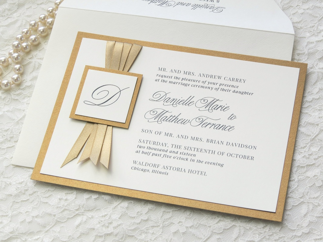 ivory and gold wedding invitations gold wedding invitations Gold Wedding Invitations Save The Dates Thank You Cards Will