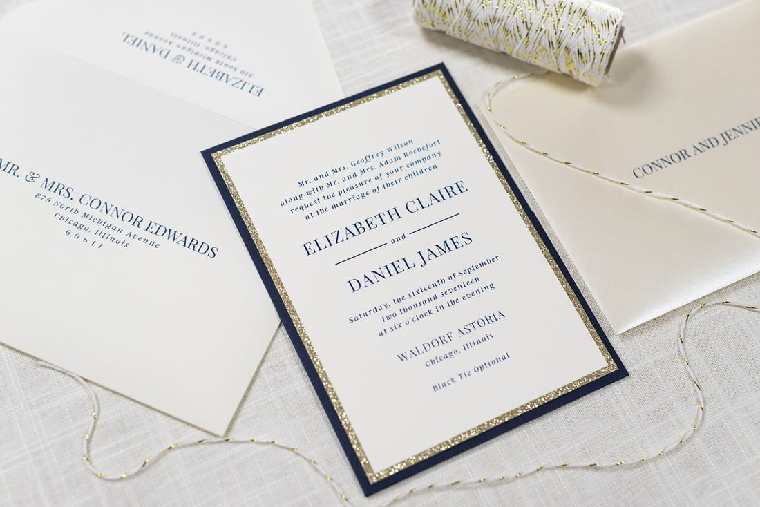 Fullsize Of Pictured Wedding Invitations