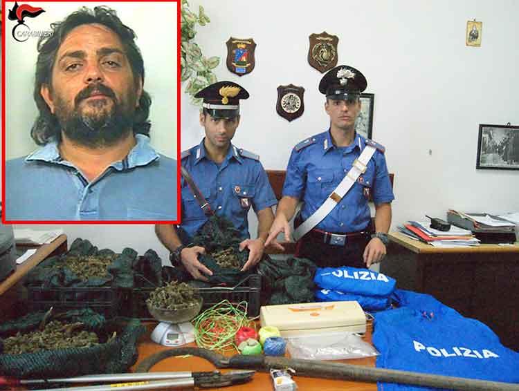 Imprenditore reggino nascondeva oltre 10 kg di canapa essiccata, arrestato