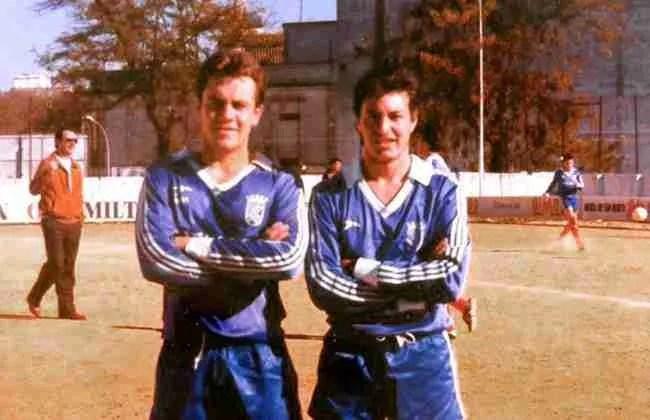 Fotografía de José Miguel Muñoz. Juan Holgado (dcha) junto a Sánchez en el Xerez B