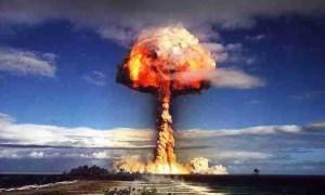 amenaza nuclear explosión nuclear hongo