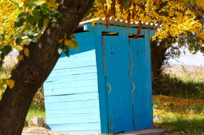 Typical outhouse near Burana Tower in Kyrgyzstan