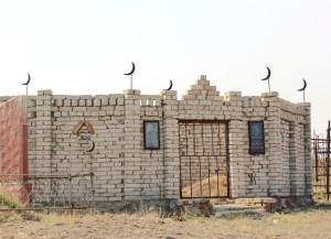 Cemetery in Kyrgyzstan countryside