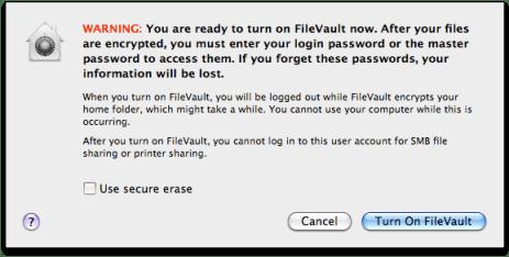 Activate FileVault