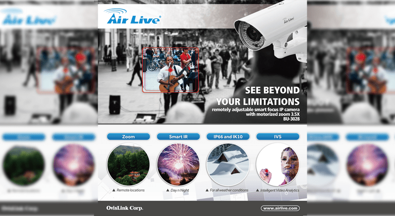 AirLive new Smart Focus and Zoom Bullet IP camera