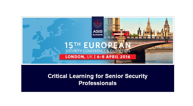 Insider Threat - Critical Learning at ASIS Europe 2016