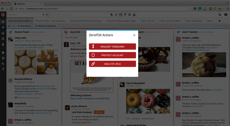 Hootsuite and ZeroFOX protect from social media security risks