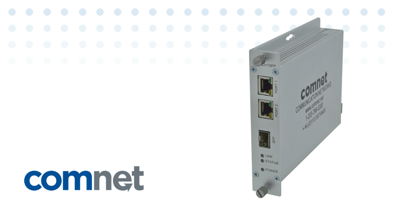 ComNet Next Generation Cost-Effective Dual Input over SFP Media Converter