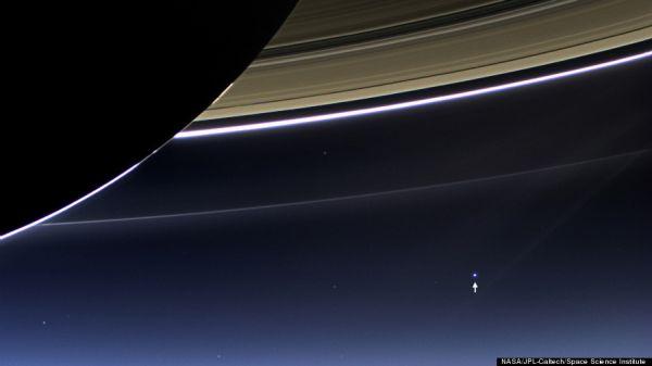 espaço carl sagan astronomia  Uma imagem da Terra a 1,5 bilhão de quilômetros