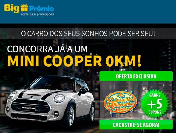 sorteio promoção big premio  Só hoje no Sedentário Hiperativo você ganha 5 cupons para concorrer a um Mini Cooper no Big Prêmio