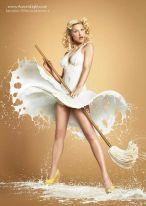 Pin Ups vestidas de leite