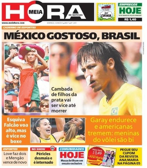 11 capas do Jornal Meia Hora do Rio