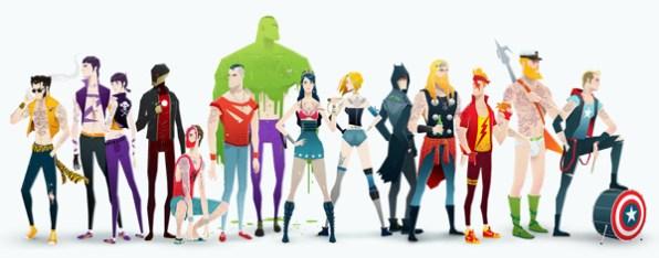 E se os Super Heróis fossem Rockstars