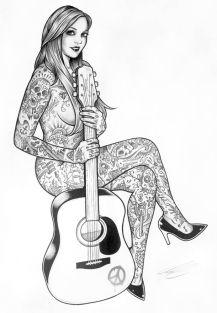Garotas e Tatuagens, conheça a arte de Adam Isaac Jackson