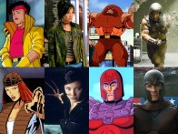 Personagens dos filmes e HQs dos X Men Lado a Lado