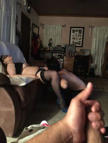 Cuckold Watches His GF Getting Fucked