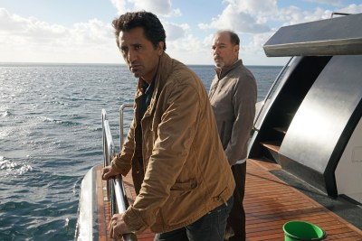Cliff Curtis as Travis and Ruben Blades as Daniel Salazar - Photo Credit: Richard Foreman/AMC