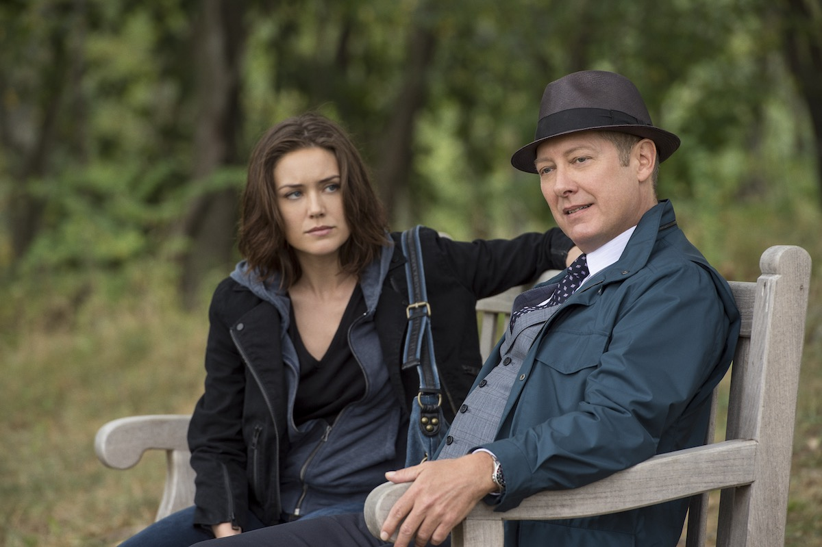 """James Spader as Ryamond """"Red"""" Reddington Megan Boone as Elizabeth Keen in The Blacklist. Image: © Sony Pictures Television."""