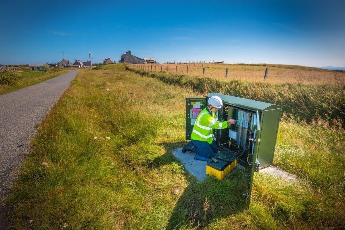 An Openreach engineer working in North Tolsta. Image: BT