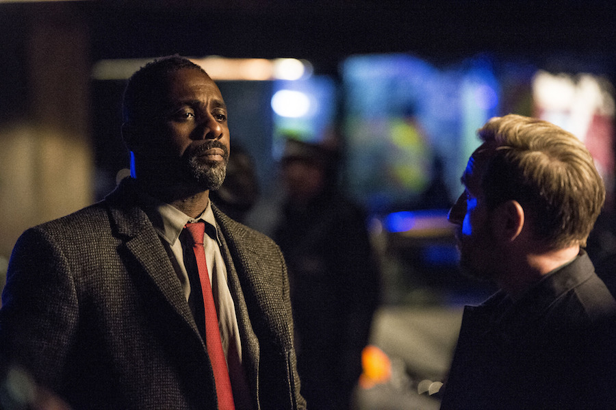 DCI John Luther (IDRIS ELBA), DS Benny Silver (MICHAEL SMILEY). Image: BBC/Steffan Hill
