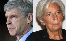 Seperated at Birth? Arsene Wenger &amp; Christine Lagarde