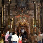 Fourteenth Station: Front of edicule over the Tomb of Christ (Seetheholyland.net)