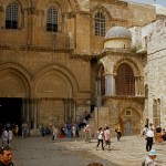 Parvis (courtyard) of the Church of the Holy Sepulchre  (Seetheholyland.net)