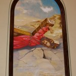Fourth Station: Graphic representation of the fallen Jesus in the Armenian church  (Seetheholyland.net)