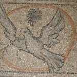 Dove mosaic in floor of Chapel of St Helena (Seetheholyland.net)