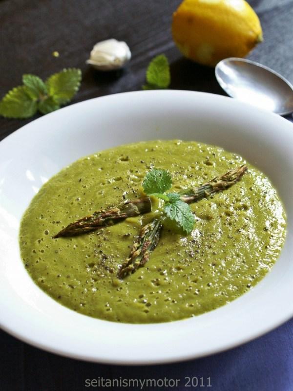 asparagus soup | www.seitanismymotor.com