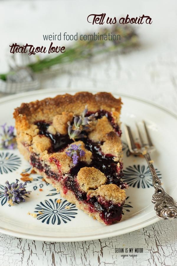 blackcurrant and lavender pie | Vegan Mofo 2015