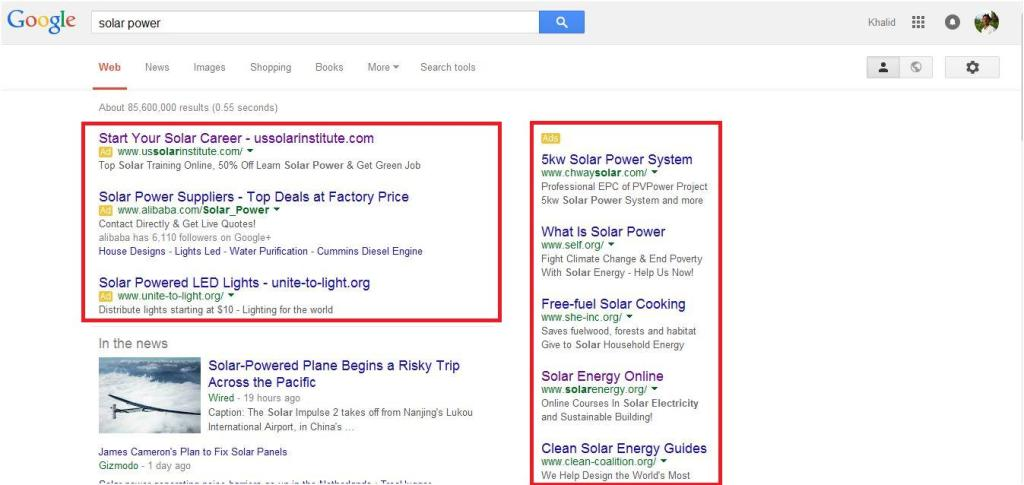 google-search-results-solar-power-ads
