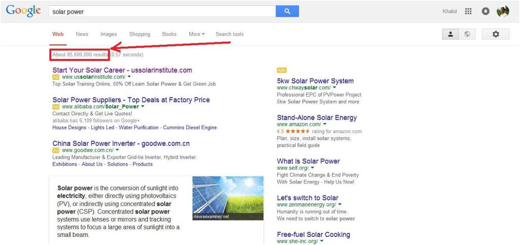 google-search-results-solar-power