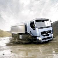 Truck through water