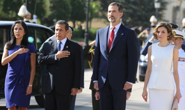 Reyes con presidente de Peru