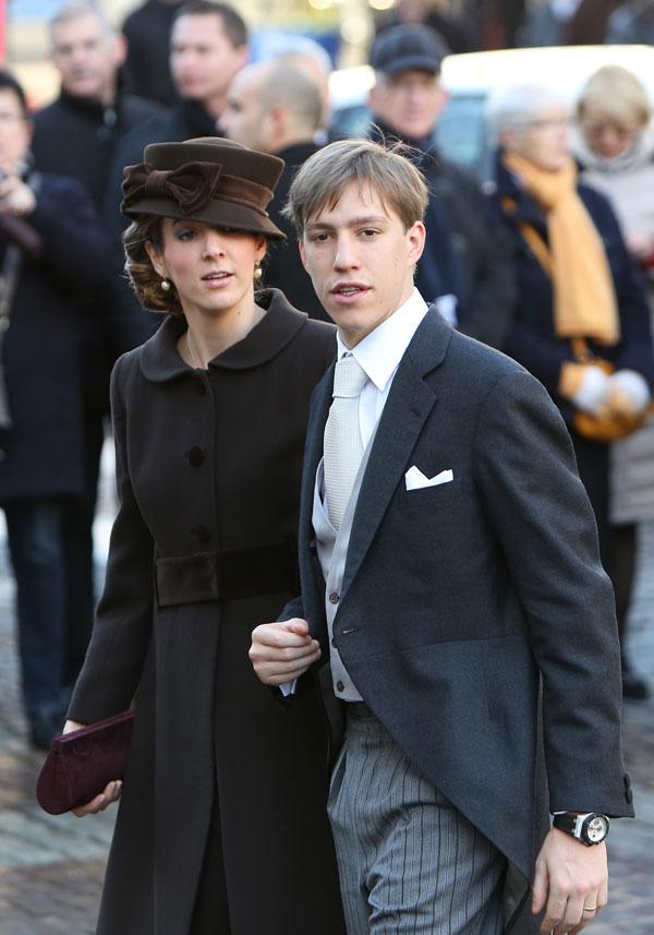 Luis de Luxemburgo y su mujer, Tessy