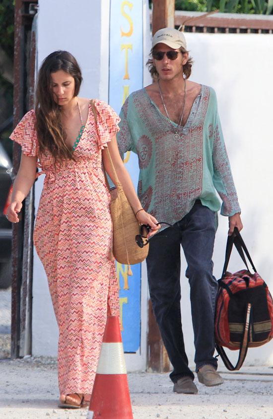Una pareja hippy-chic