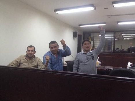 Héctor Sánchez Gómez, José Dilio Naranjo y Campo Elías Ortiz, trabajadores petroleros, fueron detenidos en tres lugares diferentes del país.