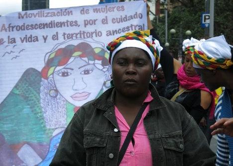 Marcha de mujeres afro del Norte del Cauca llegó a Bogotá