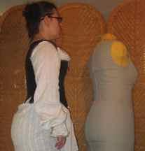Heavily boned, Effigy style corset