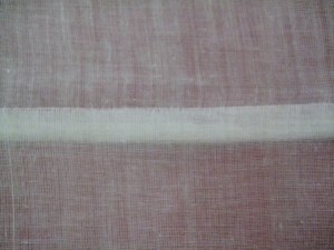 The French Seam, seen from the right side.  On a non-sheer fabric, this is completely invisible.