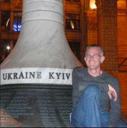 My first night in Kyiv, Ukraine. 2012