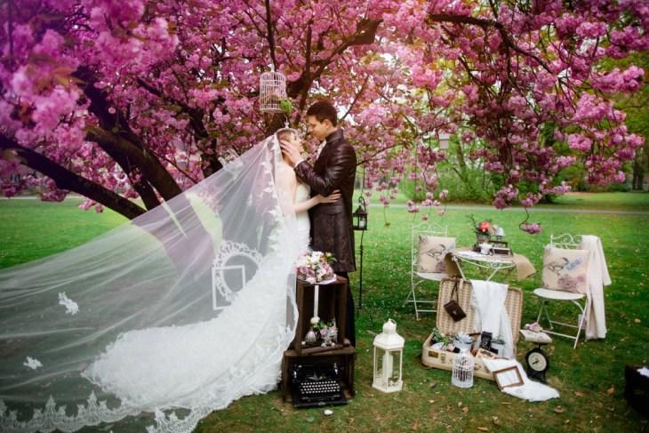 Brautpaar Kirschblüten