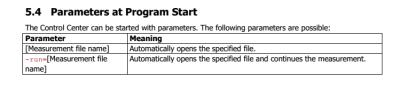 CCS30 Parameters at program start