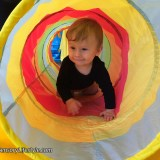 Josh in a tunnel