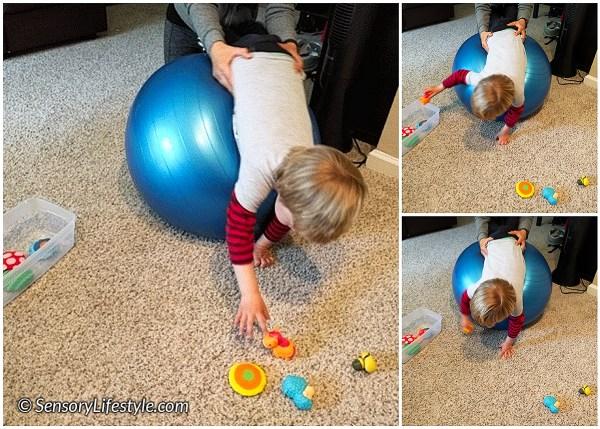 Therapy ball fun